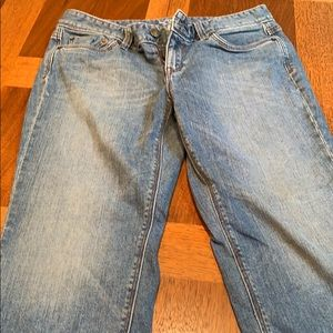 Loft Curvy crop jeans